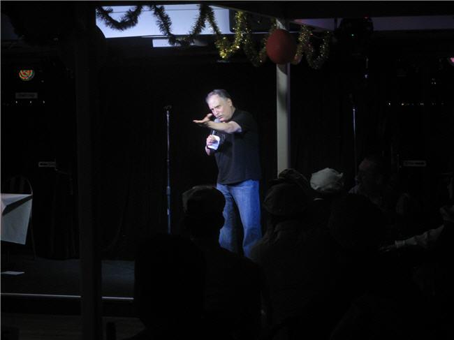Peter Meisel MC on Sydney Comedy Cruise